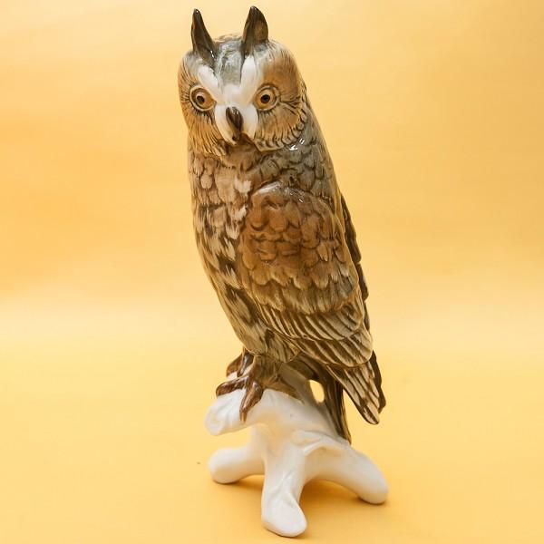 Птица - Фарфоровая статуэтка «ФИЛИН - СОВА», Карл Энц / Karl Enz,  Германия, 50-е годы ХХ века.