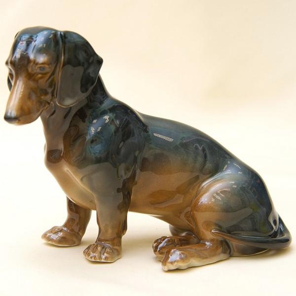 Коллекционная Фарфоровая Статуэтка «Собака - Такса», Карл Энц / Karl Enz,  Германия, 50-е гг.