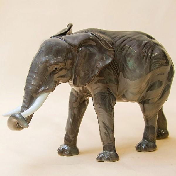Редкость!!! Фарфоровая Статуэтка «Индийский Слон», Карл Энц / Karl Enz,  Германия -1936г.