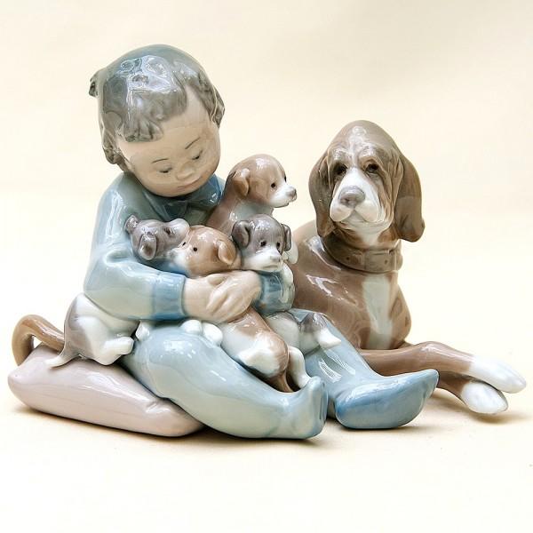 Коллекционная Фарфоровая статуэтка «Новые друзья» Lladro, Испания - 1987 год.