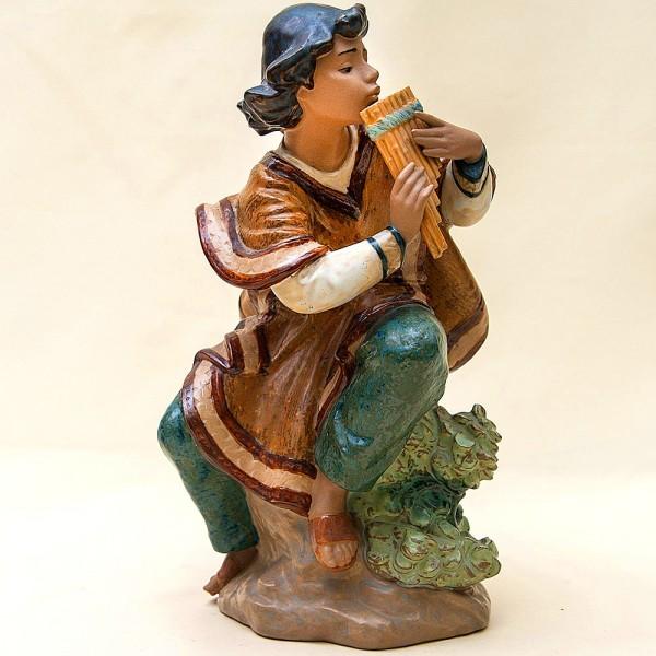 Большая Коллекционная Фарфоровая статуэтка «Юноша играющий на флейте» Lladro Испания -1986г.