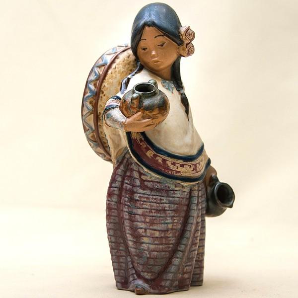 Коллекционная Фарфоровая статуэтка «Девочка в сомбреро» Lladro, Испания - 1984 год.