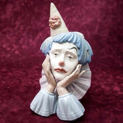 Редкая! Большая Коллекционная Фарфоровая статуэтка «КЛОУН» Lladro, Испания -1981год.