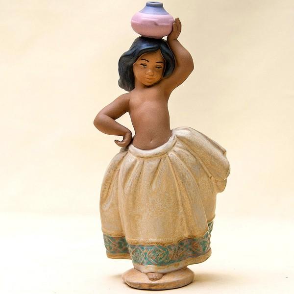 Коллекционная Фарфоровая статуэтка «Девочка с кувшином» Lladro, Испания - 1995 год.