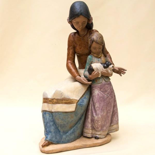 Большая Коллекционная Фарфоровая статуэтка «Семейная любовь» Lladro, Испания - 1993 год.