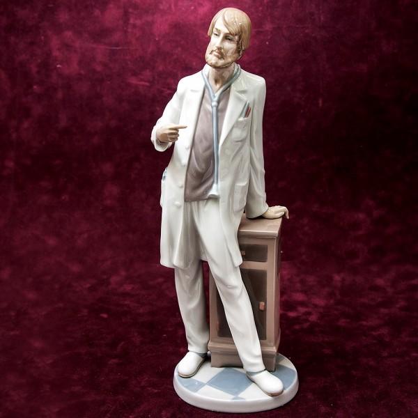 Редкая! Большая Коллекционная Фарфоровая статуэтка «Главврач» Lladro, Испания -1992 год.