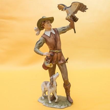 Бисквит! Коллекционная Фарфоровая статуэтка «Соколиная Охота» KAISER Porzellan Германия - 1990 год.