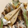Редкая! Коллекционная Фарфороваях Статуэтка «Музыкант с домрой» Япония,  SATSUMA 50гг.