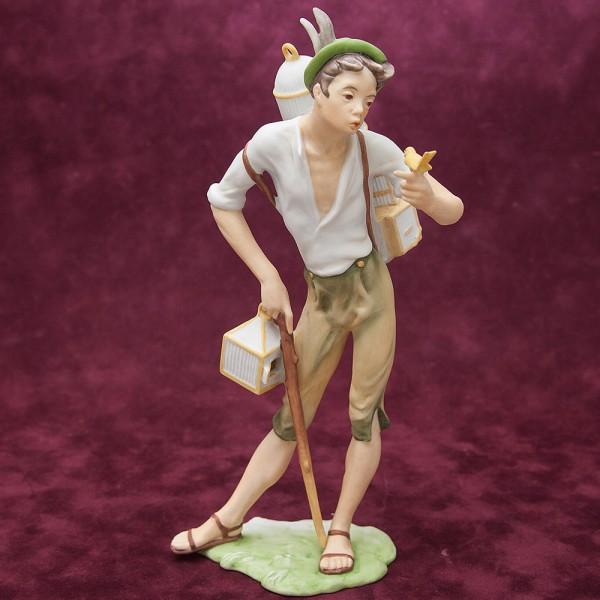 Редкая! Коллекционная Фарфоровая статуэтка «ПТИЦЕЛОВ» KAISER Porzellan Германия - 1979 год.