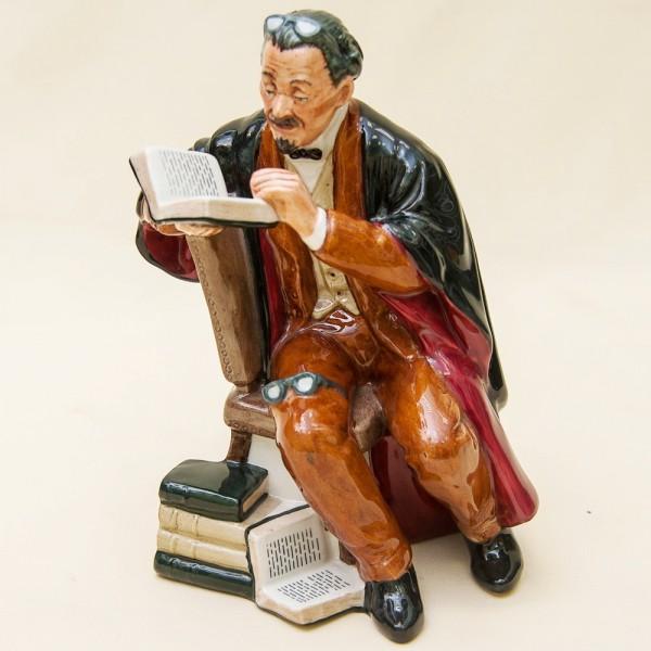 Коллекционная Фарфоровая статуэтка «ПРОФЕССОР» - Н-18 см., Royal Doulton, Англия.