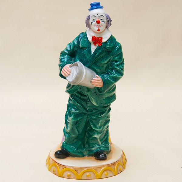 Авторская Фарфоровая статуэтка «КЛОУН» - Н-23 см., Royal Doulton, Англия -1989 год.