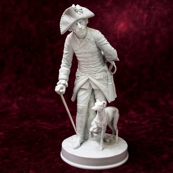 Большая! Фарфоровая статуэтка «Старый Фриц» Muller&Co., Германия -1907 -1949 гг.
