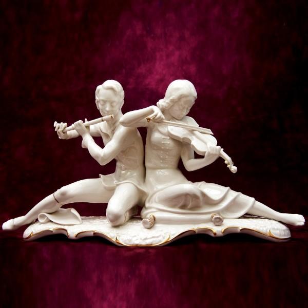 Винтажная Фарфоровая статуэтка «СОНАТА, МУЗЫКАЛЬНЫЙ ДУЭТ» Hutschenreuther, Германия.