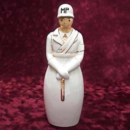 "Штоф-Графин-Бутылка- Флакон для ликёра ""La police militaire"" AРТ ДЕКО ROBJ ФРАНЦИЯ 1928г."