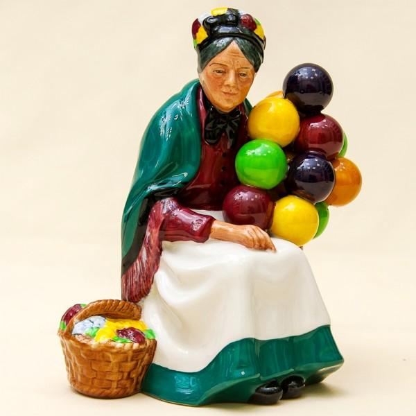 Коллекционная Фарфоровая статуэтка «Продавщица шаров» - Н-18 см., Royal Doulton, Англия.