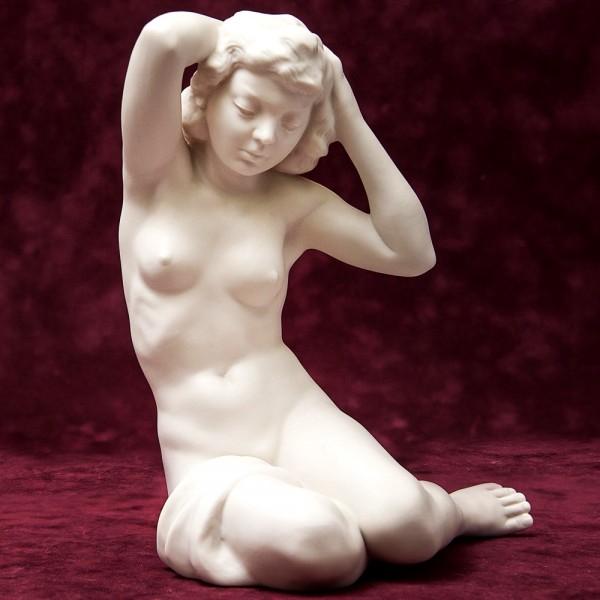 Авторская Статуэтка «Обнаженная Девушка», Бисквитный Фарфор, Hutschenreuther, Германия -1955-1968 гг.
