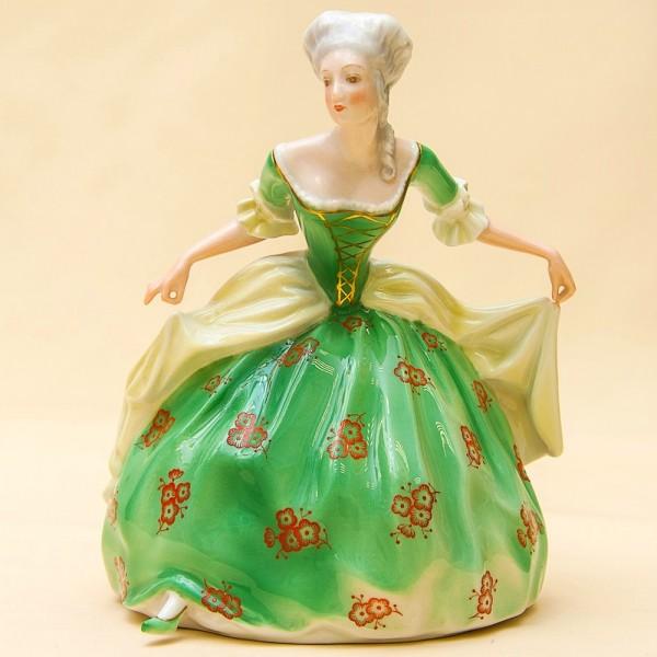Супер Редкость! Фарфоровая Статуэтка  «Девушка в зеленом платье», ROSENTHAL,  Германия -1937 год.