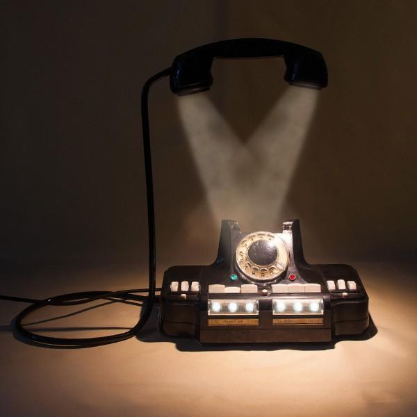 """Настольная Электрическая Лампа - Светильник «Директорский Телефон  """"КД-6""""» СССР -1965 год."""