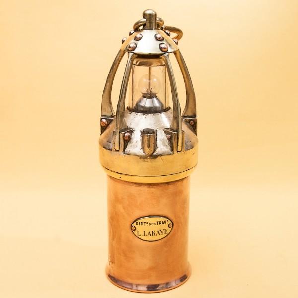 Суппер Редкость! Шахтёрский Фонарь - Лампа - Светильник, L.LAKAYE Англия - 1905-25 годы.