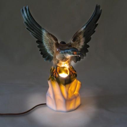 Фарфоровый Ночник - Светильник - Лампа «Орёл» GRAFENTHAL Германия -1962 год.
