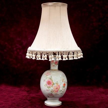 Настольная Электрическая Лампа - Светильник «Летний Вечер», Фарфор Limoges, Франция.