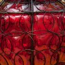 «Пурпурное Сердце» Электрический Подвесной Фонарь - Лампа - Светильник - Мурано, Италия.