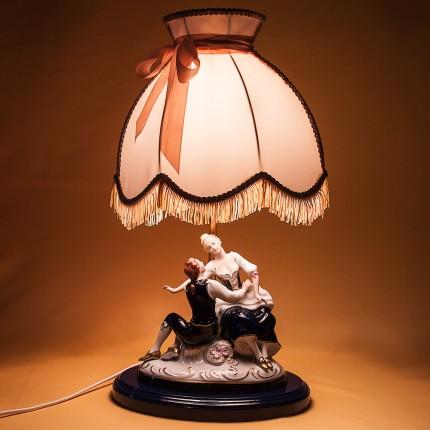 Электрическая Лампа - Светильник - Статуэтка «Свидание» Фарфор ROYAL DUX BOHEMIA.