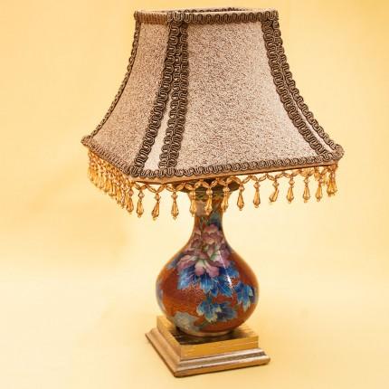 Настольная Электрическая Лампа - Светильник «ПАГОДА» в технике «Клуазоне» Китай 50-е годы ХХ века.