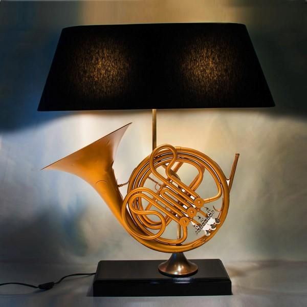 Дизайнерская Электрическая Настольная Лампа Светильник «Труба - Валторна - 1962г».