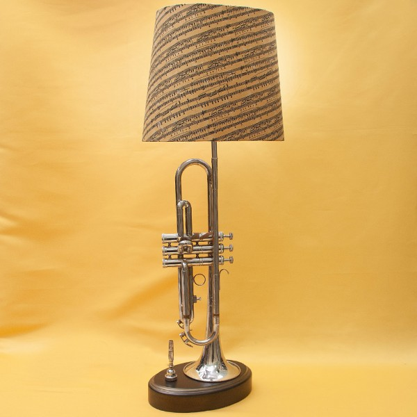 Дизайнерская Электрическая Настольная Лампа Светильник «Труба» - «ALL THAT JAZZ».