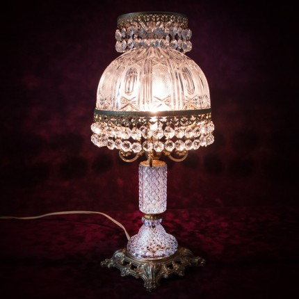 Настольная Лампа Светильник «Magnifique Cristal» в хрустальном корпусе. Франция  Н-46см.
