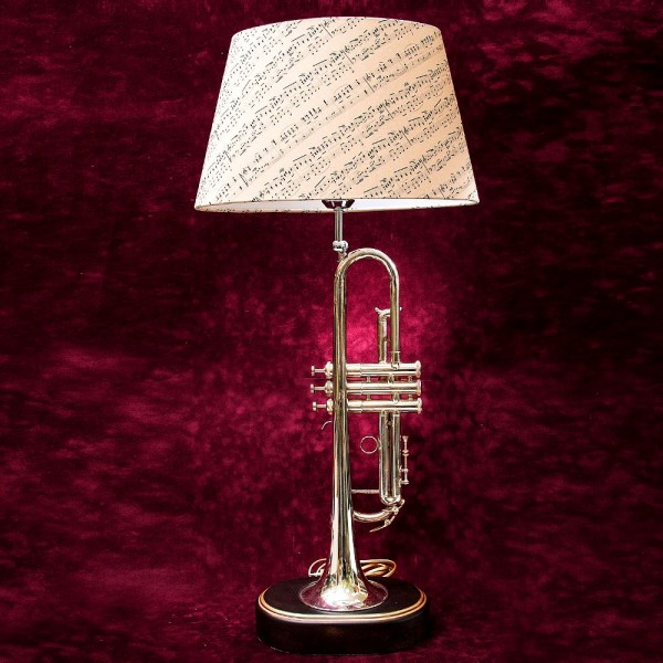 Дизайнерская Электрическая Настольная Лампа Светильник «Труба» - «ALL THAT JAZZ». ГДР