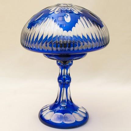 Настольная Кабинетная Лампа Светильник из Цветного Хрусталя. SCHONBORNER Германия, 60-е гг.