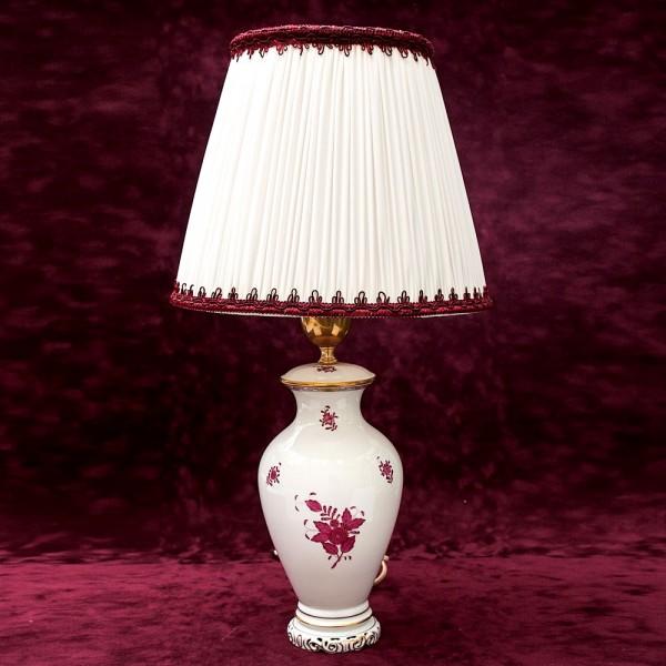 Настольная Электрическая Лампа - Светильник «APPONYI PURPUR» Фарфор Herend.