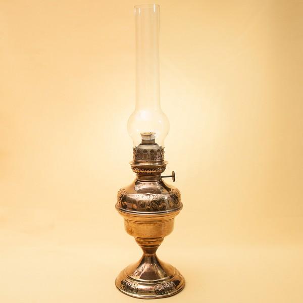 Винтажная Латунная Керосиновая Лампа Diest la Fabrique, Бельгия середина ХХ века.