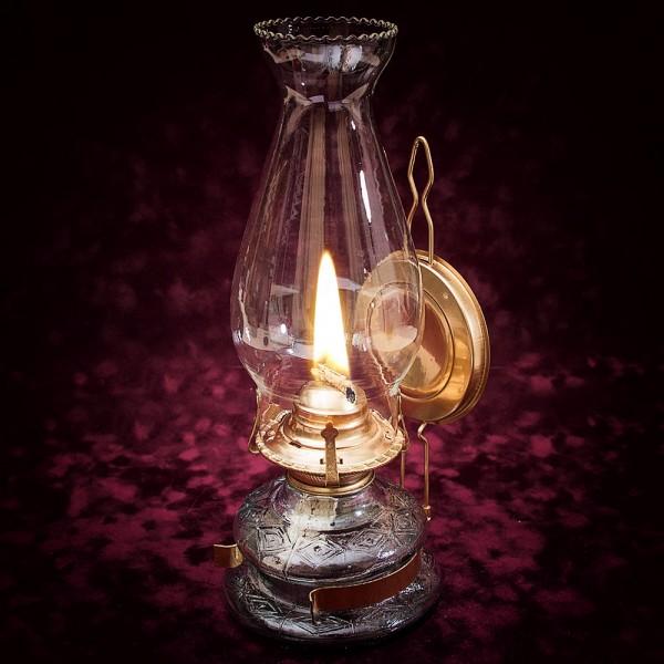 Винтажная Керосиновая Лампа «Gold Grande» с Отражателем Франция середина ХХ века.