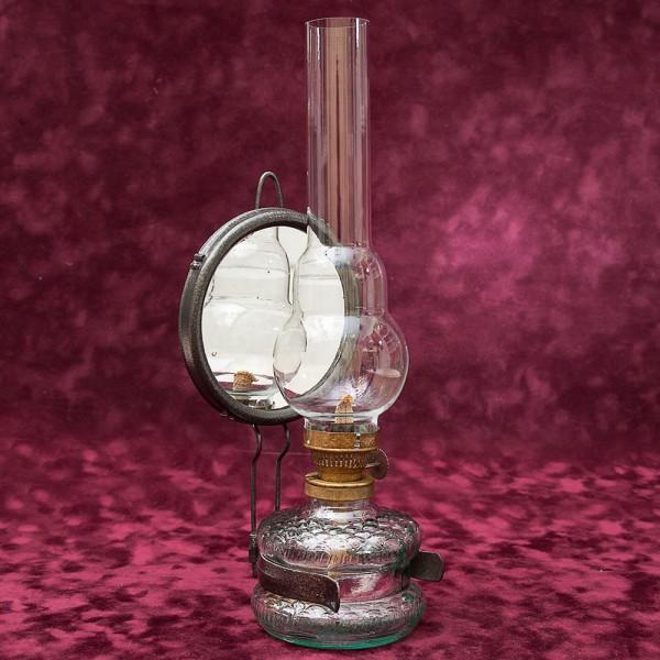 Керосиновая Лампа «Prima - Lux» с Отражателем Франция середина ХХ века.