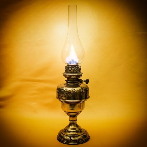Винтажная Керосиновая Лампа Латунь BREVETE - L&B, Франция, начало ХХ века.