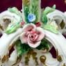 Большой Подсвечник - Канделябр «Грёзы в Саду» на пять свечей  Фаянс Cerama-LUX Бельгия.