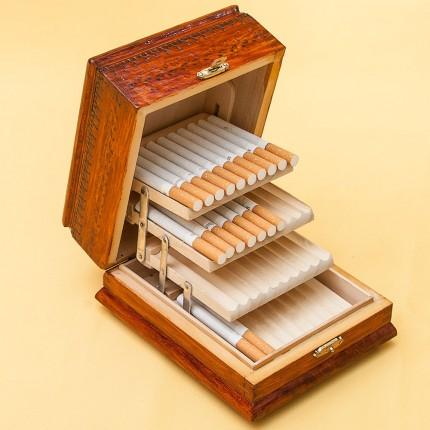 Винтажная Настольная Сигаретница, Дерево Монако вторая половина ХХ века.