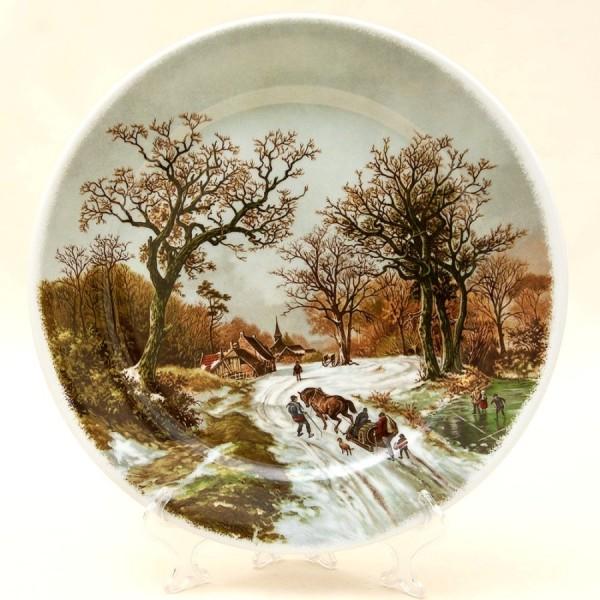 Коллекционная Тарелка «Весенняя распутица» Фарфор, Royal Schwabap, Голландия -1984 год.
