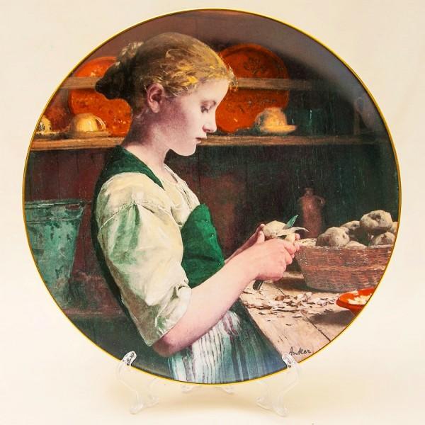 Коллекционная Тарелка «Девочка с картошкой» серия «Детские портреты» Швейцария -1990г.