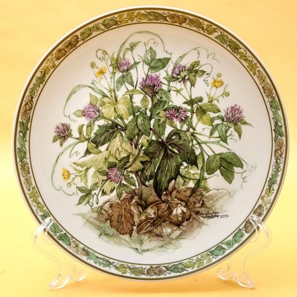 Коллекционная Тарелка «Цветы - КЛЕВЕР» Фарфор, Lilien Porzallan, Австрия -1992 год.