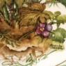 Коллекционная Тарелка «Цветы - Анютины Глазки» Фарфор, Lilien Porzallan, Австрия -1992 год.