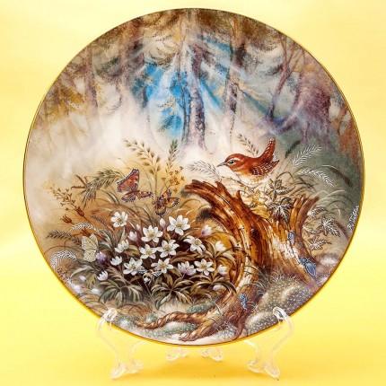 Коллекционная Тарелка «Шелест леса» Фарфор, Lilien Porzallan, Австрия -1992 год.