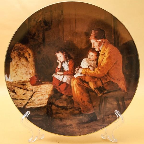 Коллекционная Тарелка «С дедушкой» Фарфор, Suisse Langenthal, Швейцария -1987 год.