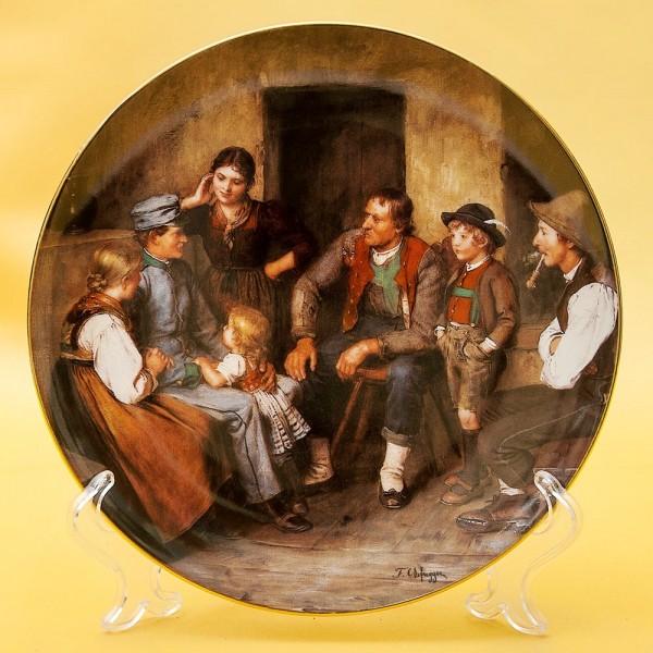 Коллекционная Тарелка «Отпускник» Фарфор, Lilien Porzallan, Австрия -1992 год.