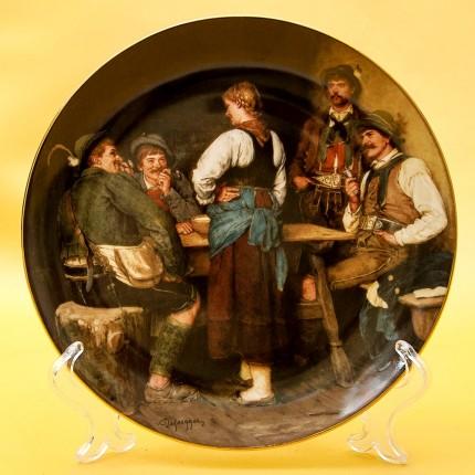 Коллекционная Тарелка «В альпийской хижине» Фарфор, Lilien Porzallan, Австрия -1988 год.