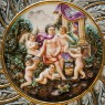 Большая Коллекционная Тарелка - Блюдо «Райский Сад» Фаянс Capodimonte Каподимонте Италия.