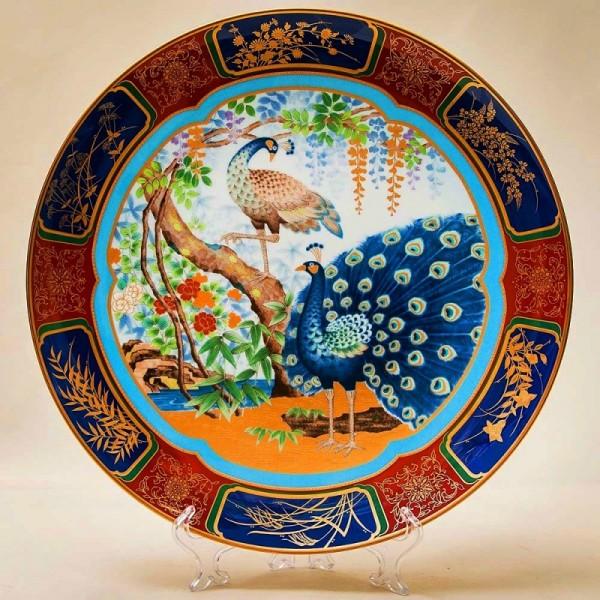Большое Коллекционное Блюдо - Тарелка «ПАВЛИНЫ» Фарфор NORITAKE Япония -1981 год..